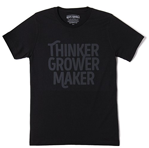 Men's Gardening, Farming, Homesteading, Maker T-shirts: The Thinker Grower Maker Tee by Root & Ramble